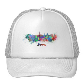 Bern skyline in watercolor cap