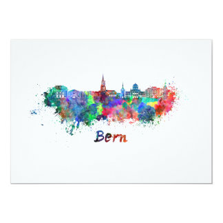 Bern skyline in watercolor card