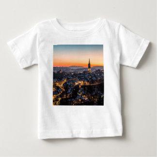 Bern Switzerland Night Skyline Baby T-Shirt