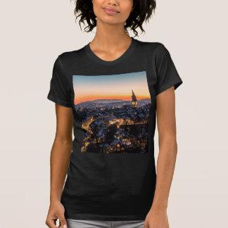 Bern Switzerland Night Skyline T-Shirt