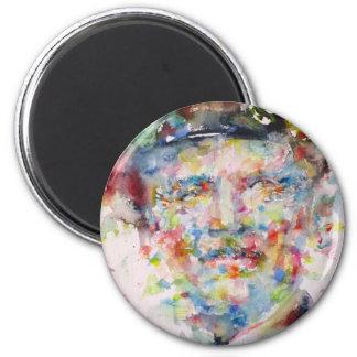 bernard montgomery - watercolor portrait magnet