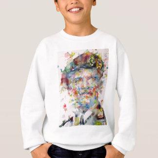 bernard montgomery - watercolor portrait sweatshirt