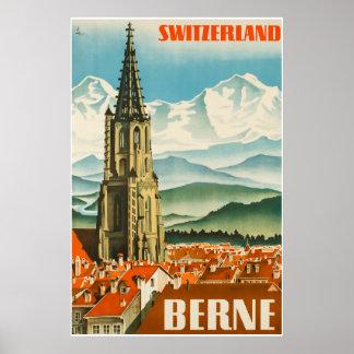 Berne, Switzerland, Travel Poster