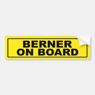 Berner on Board Bumper Sticker