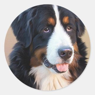 Berner Sennenhund Classic Round Sticker