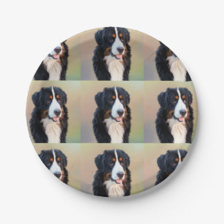 Berner Sennenhund Paper Plate