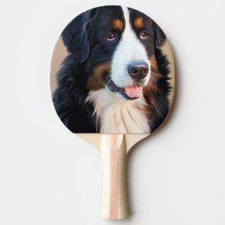 Berner Sennenhund Ping Pong Paddle