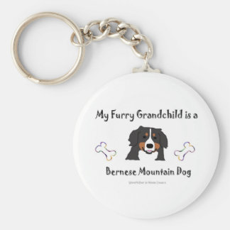 Bernese Basic Round Button Key Ring