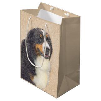 Bernese Mountain Dog 2 Painting - Original Dog Art Medium Gift Bag