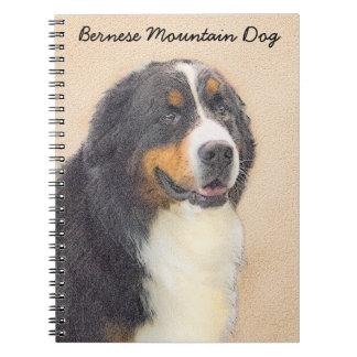 Bernese Mountain Dog 2 Painting - Original Dog Art Notebooks