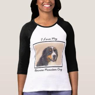 Bernese Mountain Dog 2 Painting - Original Dog Art T-Shirt
