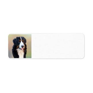 bernese mountain dog 3 return address label