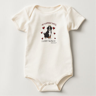 bernese mountain dog baby bodysuit