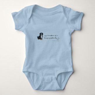 bernese mountain dog baby bodysuit