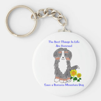 Bernese Mountain Dog Best Things In Life Keychain