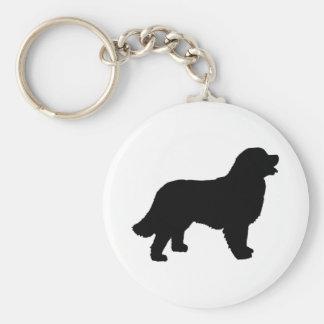 Bernese Mountain Dog (black silhouette) Key Ring