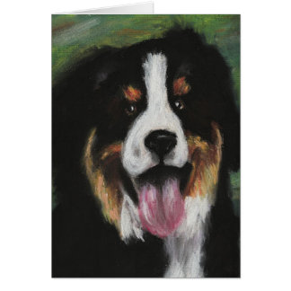 Bernese Mountain Dog Blank Card
