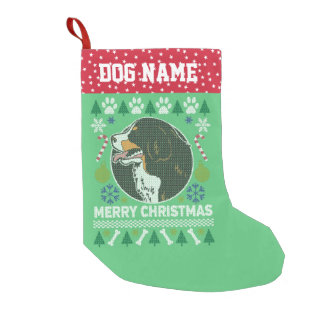 Bernese Mountain Dog Breed Ugly Christmas Sweater Small Christmas Stocking