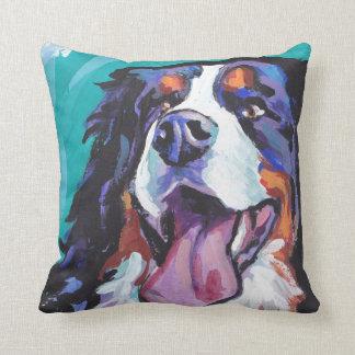 Bernese Mountain Dog Bright Colorful Pop Dog Art Cushion