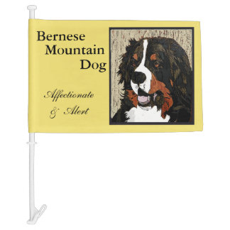 Bernese Mountain Dog Car Flag