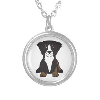 Bernese Mountain Dog Cartoon Personalized Necklace