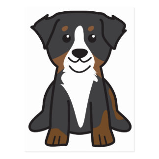 Bernese Mountain Dog Cartoon Postcard
