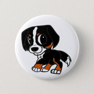 bernese mountain dog cartoon rust 6 cm round badge