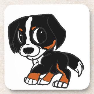 bernese mountain dog cartoon rust coaster