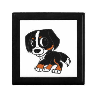 bernese mountain dog cartoon rust gift box