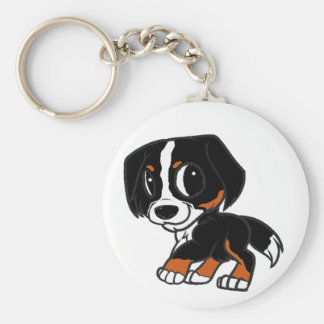 bernese mountain dog cartoon rust key ring