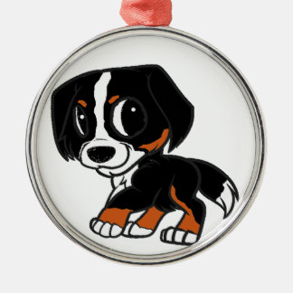 bernese mountain dog cartoon rust metal ornament
