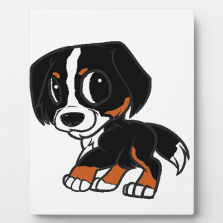 bernese mountain dog cartoon rust plaque