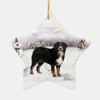 Bernese Mountain Dog Christmas ornament
