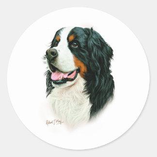 Bernese Mountain Dog Classic Round Sticker
