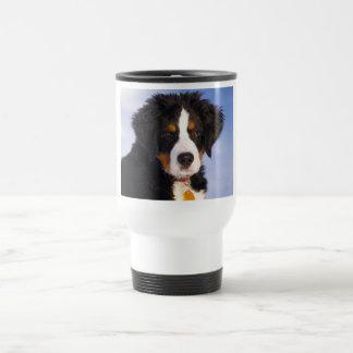 Bernese Mountain Dog - Cute Puppy Photo Travel Mug