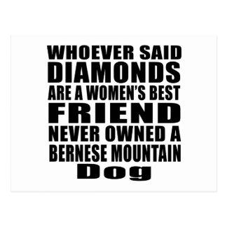 BERNESE MOUNTAIN DOG DOG BEST FRIEND DESIGNS POSTCARD