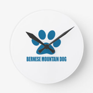 BERNESE MOUNTAIN DOG DOG DESIGNS ROUND CLOCK
