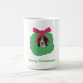 Bernese Mountain Dog Holiday Wreath Coffee Mug