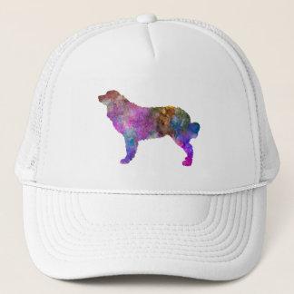 Bernese mountain dog in watercolor 2 trucker hat