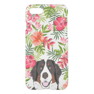 Bernese Mountain Dog iphone case - tropical