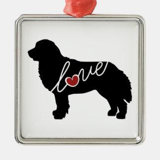 Bernese Mountain Dog Love Metal Ornament