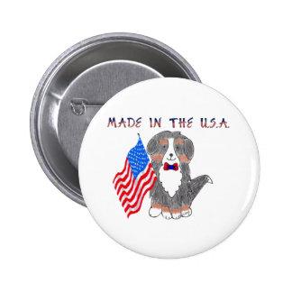 Bernese Mountain Dog Made In The USA Button