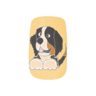 Bernese Mountain Dog Minx Nail Art
