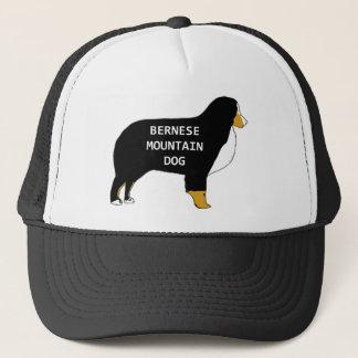 Bernese Mountain Dog name silhouette tan Trucker Hat