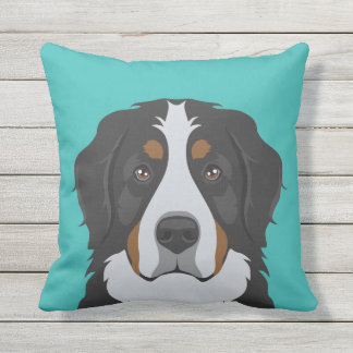 Bernese Mountain Dog Outdoor Cushion