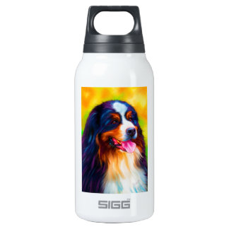 Bernese Mountain Dog Painting - Heidi Insulated Water Bottle