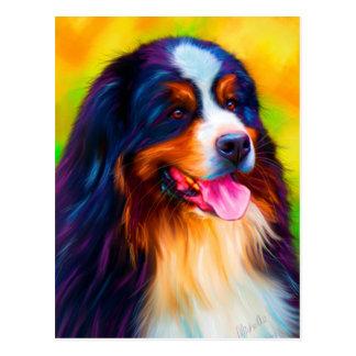 Bernese Mountain Dog Painting - Heidi Postcard