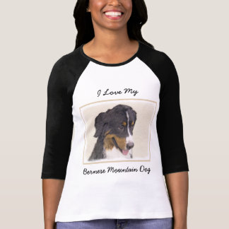 Bernese Mountain Dog Painting - Original Dog Art T-Shirt