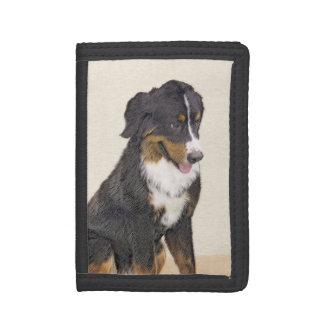 Bernese Mountain Dog Painting - Original Dog Art Trifold Wallet