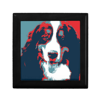Bernese Mountain Dog Political Parody Poster Jewelry Box